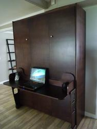 Large Brown Wooden Cabinet